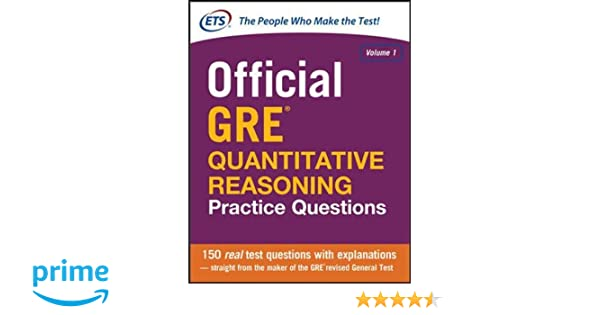 Buy Official GRE Quantitative Reasoning Practice Questions: 1 Book ...