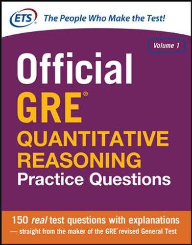 Official GRE Quantitative Reasoning Practice Questions: 1 (Test Prep)