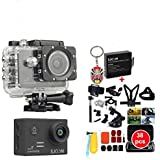Boblov 30in1 Accessories with SJCAM SJ5000X WiFi Elite Edition Action Camera(2.0inch LCD,12MP,4K @24FPS,Sony IMX078 Sensor,Gyro Anti-Shake) with A Peking Opera Keychain Add 1 More Battery