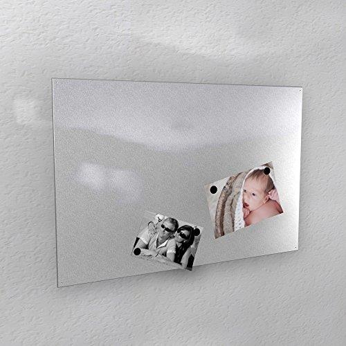 Preisvergleich Produktbild Magnetwand - silber alu alufarben Aluminium glänzend * RAL 9006 * hochglanz - 3 verschiedene Größen - 40 x 60 cm ; 50 x 80 cm ; 60 x 90 cm - (40 x 60 cm)