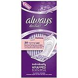 Toujours Dailies emballés individuellement célibataires normal Fraîcheur Protège-slips 20 count (Pack de 5 x 20s)