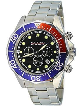 Nautec No Limit Herren-Armbanduhr XL Deep Sea Bravo Chronograph Quarz Edelstahl DS-B QZ2/STSTRDBLBK