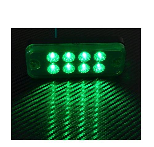 2 X 12V 8 SMD LED VERT FEUX DE GABARIT/POSITION CAMION SHASSIS REMORQUE FOURGON