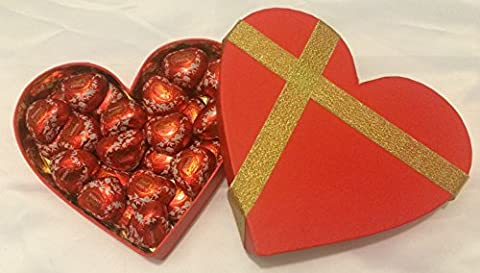 LINDT LINDOR MILK CHOCOLATE HEARTS GIFT BOX (30) LIMITED