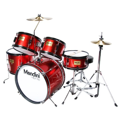 mendini-mjds-5-br-junior-drum-set-bright-red