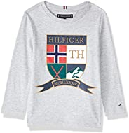 Tommy Hilfiger Boy's Embroidered Shield Long Sleeve T-Shirt,
