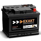 EXAKT Autobatterie 12V 65Ah Starterbatterie PKW KFZ Auto Batterie (65Ah)