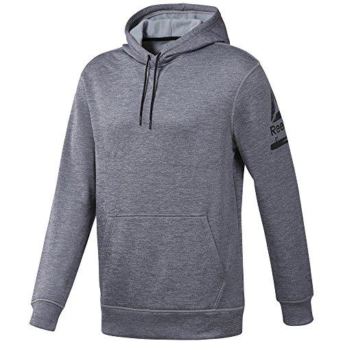 Reebok Herren Wor Thermowarm Sweatshirt, Grau (brezo gris intermedio), XL (Reebok Sweatshirt)