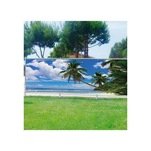 Art déco Stickers - Brise-vue déco Les Maldives - 3625 - 180x70cm, 100%