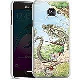 Samsung Galaxy A3 (2016) Housse Étui Protection Coque Dragon Imagination Oiseaux