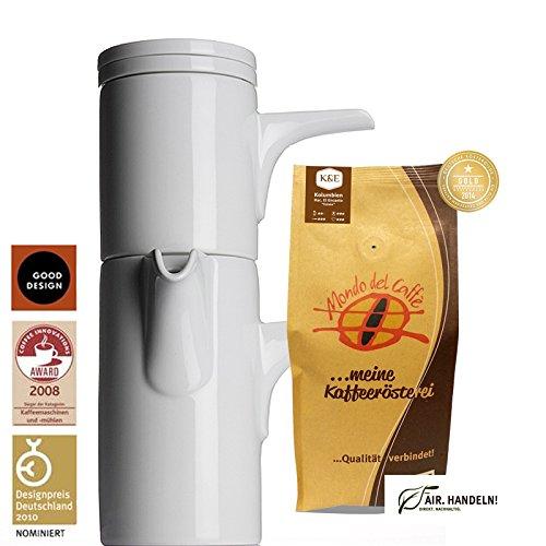 Bayreuther Kaffeemaschine 0,70 Liter von Walküre Aktionspaket mit 1* 250 g Spitzenkaffee von Mondo...