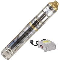 """Agora-Tec® AT- 4"""" Brunnenpumpe 500W-screw 15m Kabel sandresistente Tiefbrunnenpumpe mit max: 8 bar und 2800l/H"""