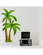Rawpockets Palm Trees' Wall Sticker (PVC Vinyl, 60 cm x 110cm)