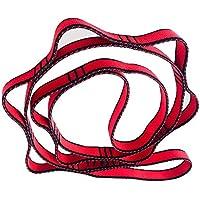 FUYUFU 2 Cadenas de Margarita de Nailon para Hamaca Yoga, Rojo, 110 cm