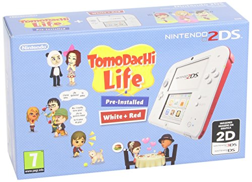 NINTENDO 2DS BLANCA/ROJA CON TOM VIDEO CONSOLA PORTATIL PARA JUEGOS ALTA CALIDAD RESISTENTE DURADERA VIDEO CONSOLA