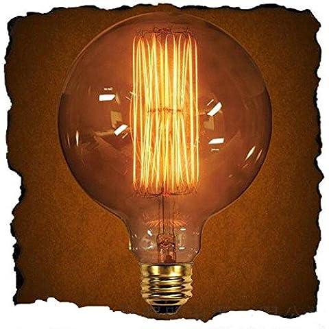 OOFAY LIGHT® Vintage Edison G125grande de–Bombilla globo (40W, E27, 220V, Edison) lámpara antigua decoración