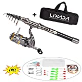 Lixada Telescopic Fishing Rod and Reel Combo Full Kit Spinning Fishing Reel Gear