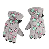 1 Paar Winter Warm Atmungs 2 4 Jahre, Kinder, Kinder Ski Handschuhe (Hellgrau)