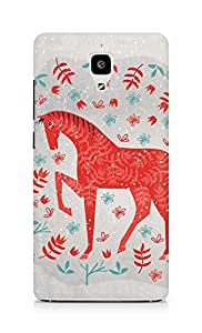 Amez designer printed 3d premium high quality back case cover for Xiaomi Mi 4 (The red horse)