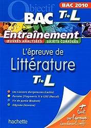 L'épreuve de littérature Tle L : Bac 2010
