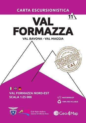 Carta escursionistica val Formazza. Scala 1:25.000. Ediz. italiana, inglese e tedesca: 11