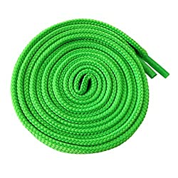 McLaces 1 Paar Schnürsenkel 13 Farben auch Neon ideal für Sneaker und Chucks Flachsenkel (neon-grün)