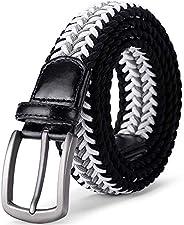 Jiguoor Braided Stretch Belt, Golf Elastic Fabric Woven Belts Casual Men/Women