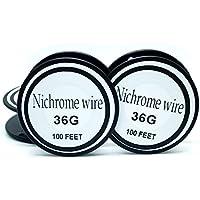 Nichrome wire36g 34g 32g 30g 28g 27g 26g 24g 22g 20g Calibre 100 FT 0,2 mm Resistencia AWG Resistencia (36Gauge/100Feet)