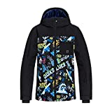 Quiksilver Mission Block Youth, Giacca da Neve Bambino, Black/A Night At The Mountain, 16/XXL