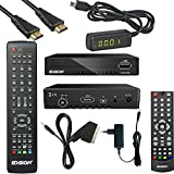 Edision progressiv hybrid lite DVB-C/T Kabel Receiver für digitales Kabelfernsehen Komplettset