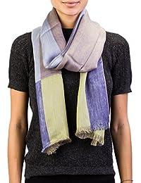 Versace Made In Italy Purple Navy Stripe 100% Silk Men's Tie