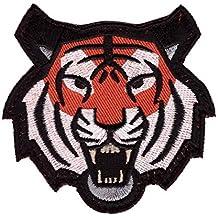 Tiger Head Tactical Morale Patch Velcro Cabeza de Tigre Airsoft Paintball Parche Bordado Velcro