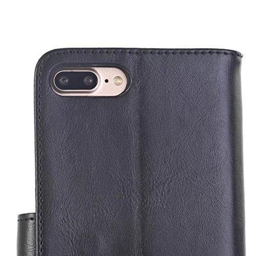 iPhone Case Cover Craze Pferd Textur Muster Wallet Stand Case Retro Flip Wallet Stand Case für Apple IPhone 7 Plus ( Color : 4 , Size : IPhone7 Plus ) 5