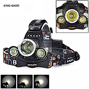 le frontale rechargeable cree xm l t6 ultra puissante 3000 lumens 4 modes fr sports