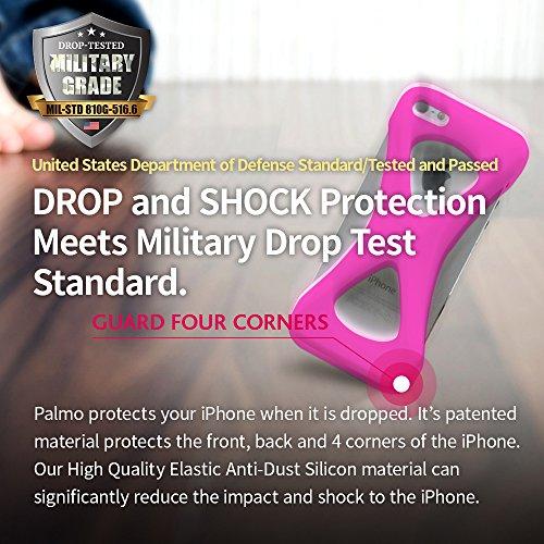 Custodia Case Palmo per iPhone 6s/6 plus (Nero) - One finger gripping iPhone case to prevent dropping Vincitrice del Premio Red Dot: Product Design 2017 e del GOOD DESIGN AWARD 2015 – Test di caduta d Rosa