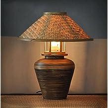 Lámpara de mesa de bambú Salón Dormitorio Lámpara de mesa decorativa