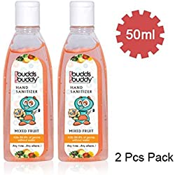 Buddsbuddy Hand Sanitizer, Mixed Fruit (50ml, Pack of 2)