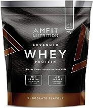 Amazon Brand - Amfit Nutrition Advanced 100% Whey Protein Powder - 992 g (Chocolate, 32 Servings)