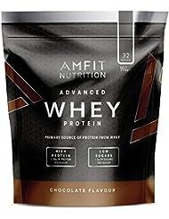 Marca Amazon - Amfit Nutrition Proteína Whey de suero de leche sabor chocolate, 32 porciones