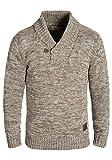 !Solid Phil Herren Winter Pullover Strickpullover Grobstrick Pullover mit Schalkragen In Melange-Optik, Größe:XL, Farbe:Dune (5409)