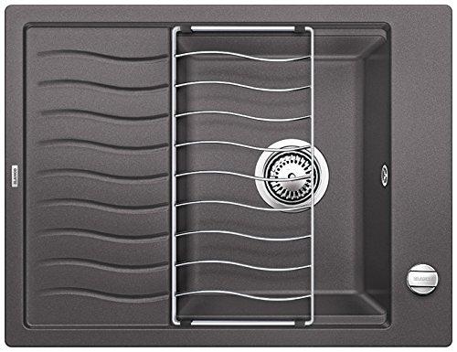 Preisvergleich Produktbild Blanco ELON 45 S, Küchenspüle, Granitspüle aus Silgranit PuraDur, 1 Stück, felsgrau, 520990