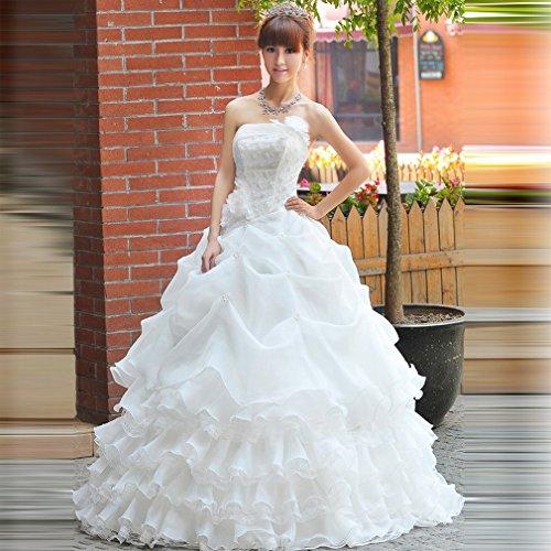 QP Braut Brautkleid Luxus-Qi Di Diamant Zurück Brautkleid Brautkleid Brautkleid Brautkleid XXXL UN