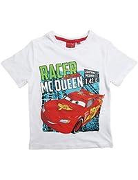 Disney Cars 2 T-Shirt 2016 Kollektion 92 98 104 110 116 122 128 Shirt Kurz Sommer Neu Lightning McQueen Jungen Weiß