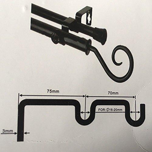 Soporte para barra de cortina doble soporte de la varilla Heavy Duty Metal (2piezas) por homeelabador vendedor de Reino Unido entrega rápida