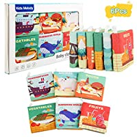 Ballery Cloth Books Baby, First interactive soft book for Infants,Nontoxic Fabric Early Educational Books for Boys and Girls Intelligence Learn Picture Cognize Gift(6pcs)