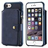 FQIAO US Cover Case for iPhone 8 iPhone 7,Holder PU leather