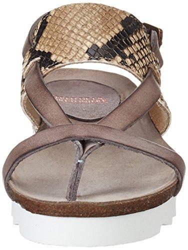 Sandalo Donna Bretoniere La De Multicolor Fred taupe Infradito Z6Rx8n6Bw