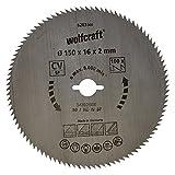 Wolfcraft 6263000 - lama per sega circolare manuale 100 denti Ø 150 mm, serie blu