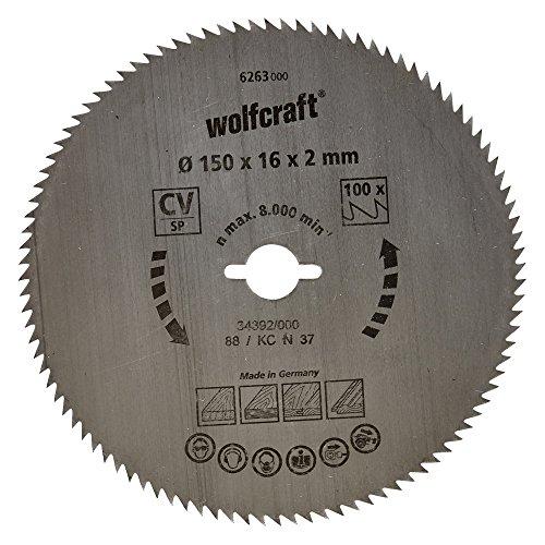 wolfcraft-6263000-disco-de-sierra-circular-cv-100-dient-serie-azul-oe-150-x-16-x-2-mm