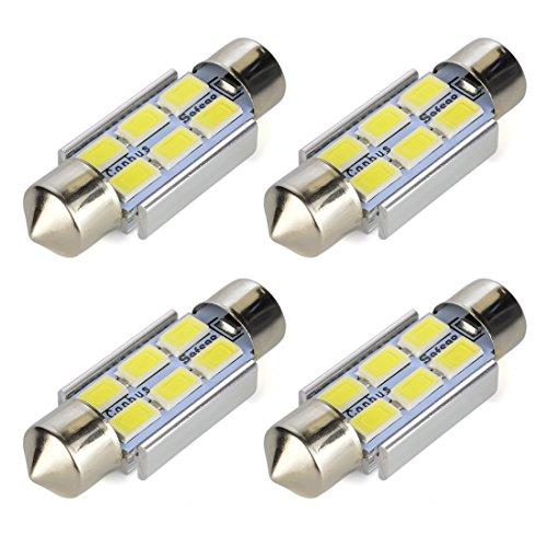 Safego 4x C5W 36mm LED Canbus LED